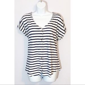 Old Navy Striped Short Sleeve Top